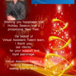 Holiday Greetings of John Davern, Jr – Managing Director of Virtual Assistant Talent
