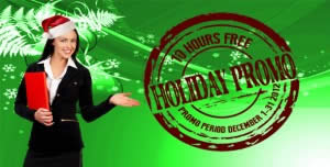 10 Hours Free Holiday Promo