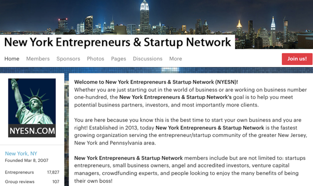 New York Entrepreneurs and Startup Network