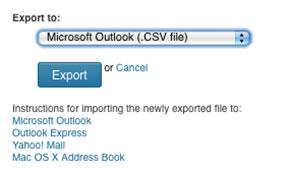 linkedIn export