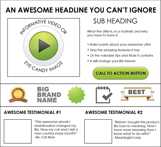 best converting landing page