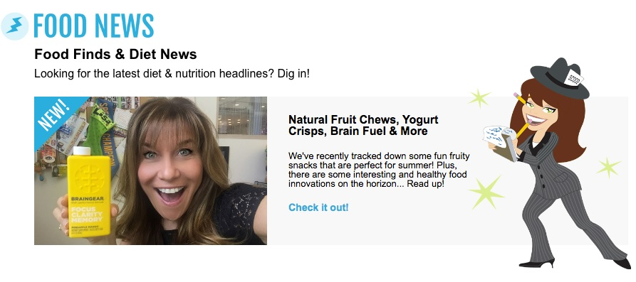 Newsletter Example - Hungry Girl's Food
